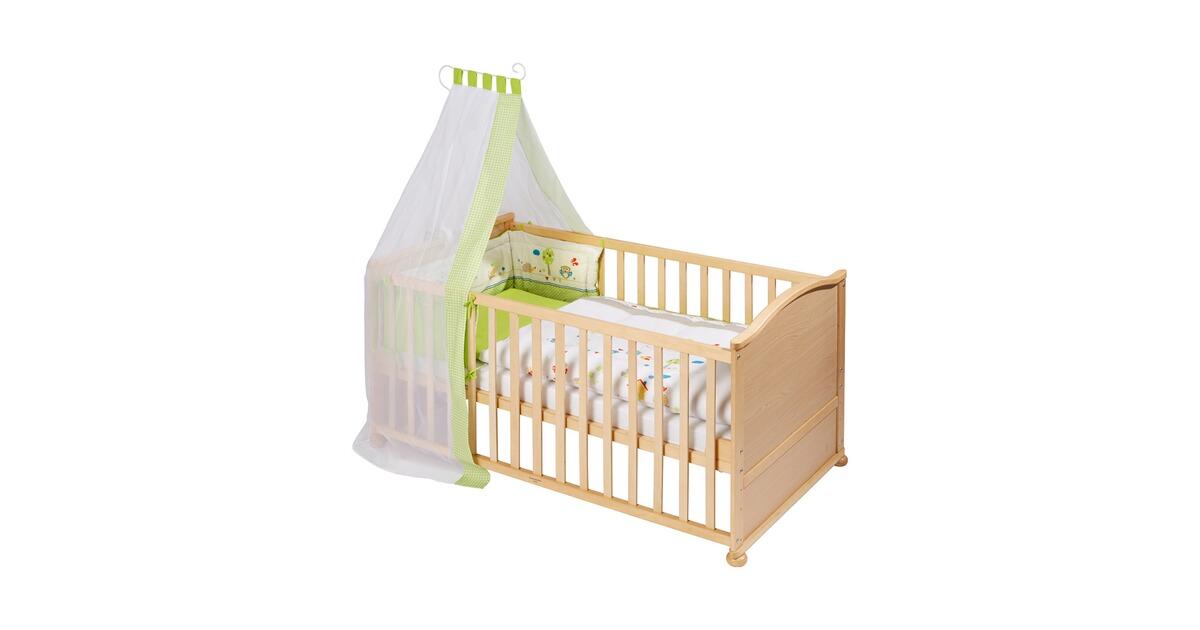 roba babybett mit ausstattung meli 70x140 cm online kaufen baby walz. Black Bedroom Furniture Sets. Home Design Ideas