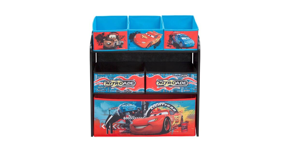 delta children disney cars aufbewahrungsregal mit 6 boxen online kaufen baby walz. Black Bedroom Furniture Sets. Home Design Ideas