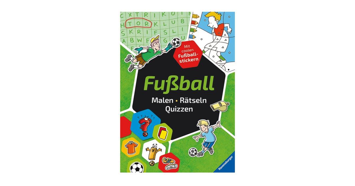 Ravensburger Malbuch Fussball Malen Ratseln Quizzen Online Kaufen Baby Walz