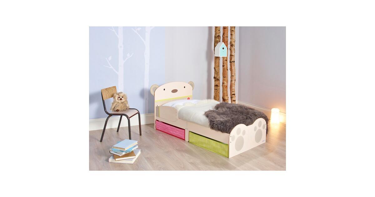 worldsapart kinderbett b rendesign mit unterbettsch ben 70x140 cm online kaufen baby walz. Black Bedroom Furniture Sets. Home Design Ideas