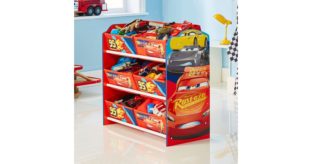 worldsapart disney cars 3 aufbewahrungsregal 6 boxen online kaufen baby walz. Black Bedroom Furniture Sets. Home Design Ideas