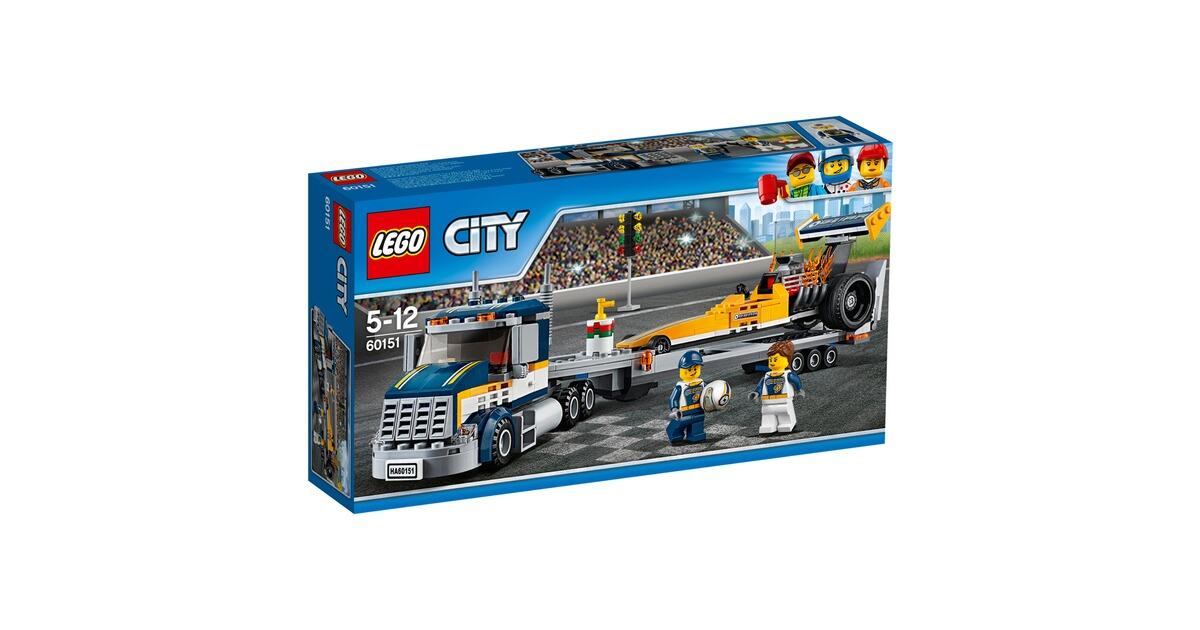 lego city 60151 le transporteur du dragster commander en ligne baby walz. Black Bedroom Furniture Sets. Home Design Ideas