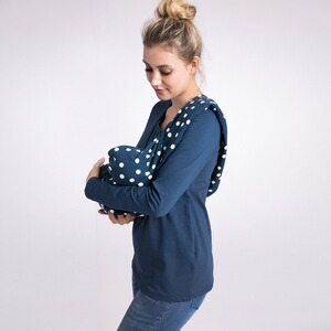 2hearts WE LOVE BASICS Still-Schal Dots  All Over Print Dots Blue
