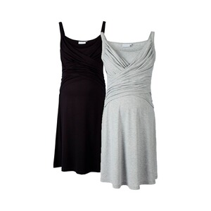 2hearts WE LOVE BASICS 2er-Pack Umstands- und Still-Kleid