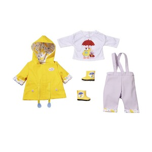 Zapf Creation BABY BORN Puppen Outfit Regen Set Deluxe 43cm