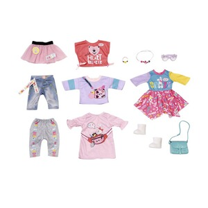 Zapf Creation BABY BORN Puppen Outfit City Fashion Set 43cm