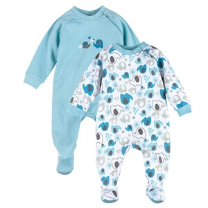 Bornino BASICS Lot de 2 dors-bien  bleu