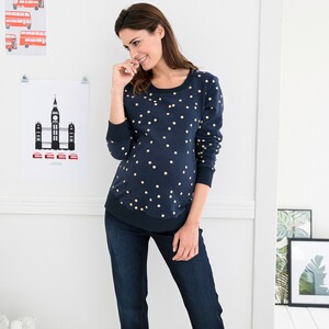 2hearts WE LOVE BASICS Le pull-over de grossesse Golden Dots