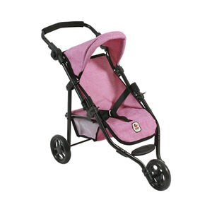Bayer Chic  Puppen-Jogging-Buggy Lola  jeans/pink