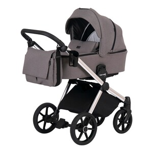 knorr-baby PREMIUM Poussette combinée Life+ 2.0 Silver Edition  taupe