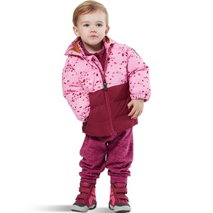 Colorkids  Steppjacke mit abnehmbarer Kapuze Tupfen  beere