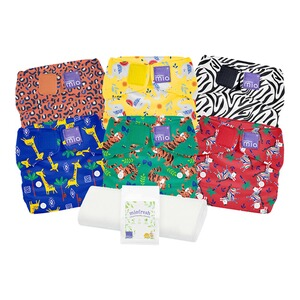 Bambino Mio  Lot de couches lavables miosolo All-in-One  multicolore/fête safari