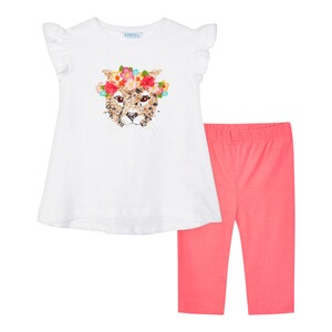 Mayoral  2-tlg. Set T-Shirt und Capri-Leggings Pailletten