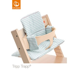 Stokke® TRIPP TRAPP® Coussin d'assise Classic  Aqua Stripes