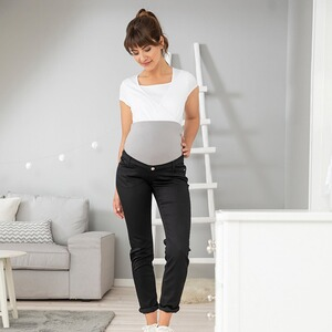 2hearts WE LOVE BASICS La pantalon de grossesse en power stretch black