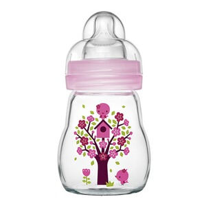 MAM  Babyflasche Feel Good, 170 ml, Glas, ab 0M  rosa
