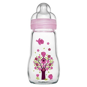 MAM  Babyflasche Feel Good 260 ml, Glas, ab 0M  rosa