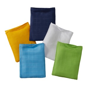 Bornino BASICS Le lot de 5 gants de toilette en gaze 15 x 20 cm