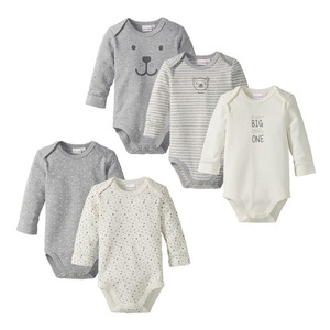 Bornino BASICS Le lot de 5 bodys à manches longues