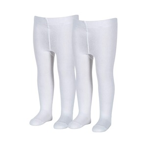 Sterntaler  Le lot de 2 collants  blanc