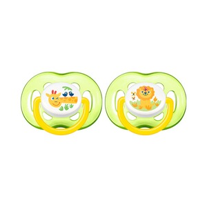 Philips Avent  Lot de 2 sucettes, SCF186/23, Freeflow, à partir de 18M