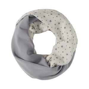 2hearts WE LOVE BASICS Still-Schal Dots  All Over Print Stars Grey