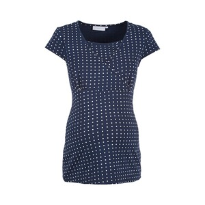 2HEARTS WE LOVE BASICS Le T-shirt de grossesse et d'allaitement Cache-coeur  dress blues / offwhite