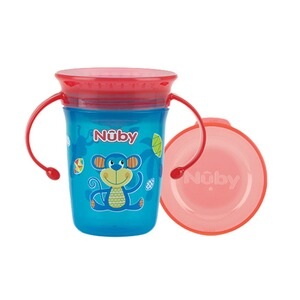 Nûby  La tasse d'apprentissage 360° Wonder Cup 240ml  bleu et rouge