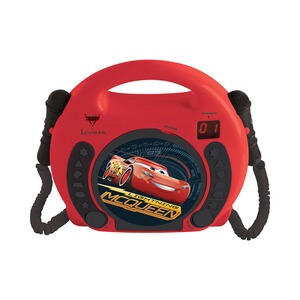 LEXIBOOK DISNEY CARS 3 CD Player mit 2 Mikrofonen