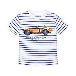 Mayoral  T-shirt rayé voiture