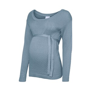 MAMA LICIOUS®  Umstands-Pullover Crystaline Strick  blau