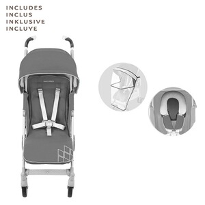 MACLAREN  Poussette-canne Techno XT entièrement inclinable  Charcoal/Silver