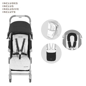 Maclaren  Poussette-canne Techno XLR entièrement inclinable  Black/Silver