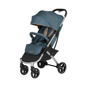 KNORR-BABY PREMIUM Poussette-canne X-Easy-Fold entièrement inclinable  jean chiné