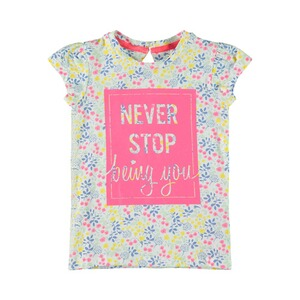 NAME IT  T-shirt fleurs Never stop being you
