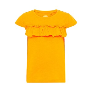 NAME IT  T-shirt à ruchés  jaune