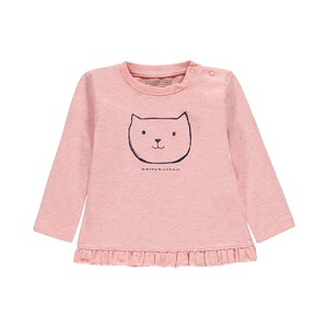 Bellybutton  Shirt langarm Rüsche Cat