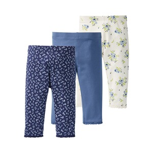 Mothercare  3er-Pack Leggings Uni Blumen