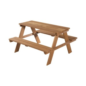 roba  Ensemble table et assise pour enfants Picknick for Outdoor Deluxe  couleurs bois teck