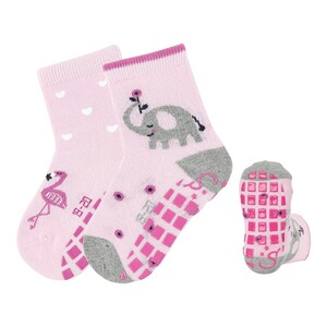 Sterntaler  2er-Pack ABS-Socken Elefant Flamingo