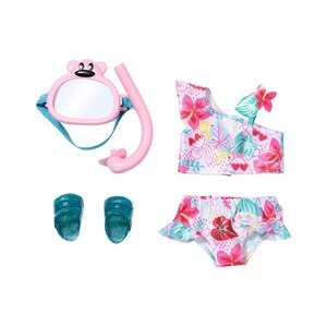 Zapf Creation BABY BORN Tenue de poupée maillot de bain 2 pièces Holiday Deluxe 43 cm