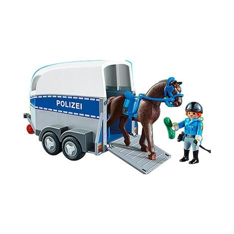 playmobil® city action 6875 berittene polizei mit anhänger