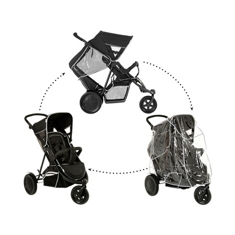 "HauckLa poussette double ""Freerider""  black 3"
