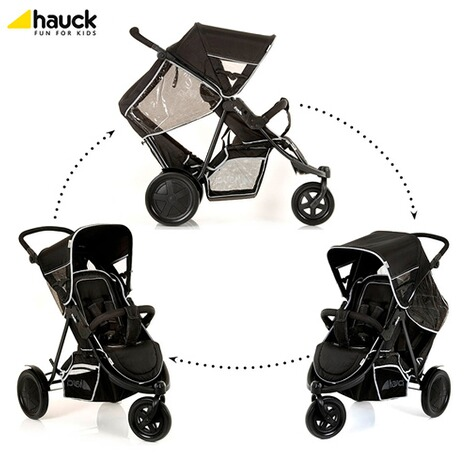 "HauckLa poussette double ""Freerider""  black 1"