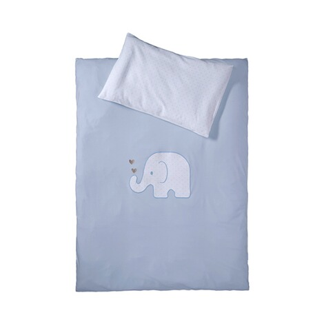 BORNINO HOMEJersey-Bettwäsche Elefant 40x60 / 100x135 cm  blau 1