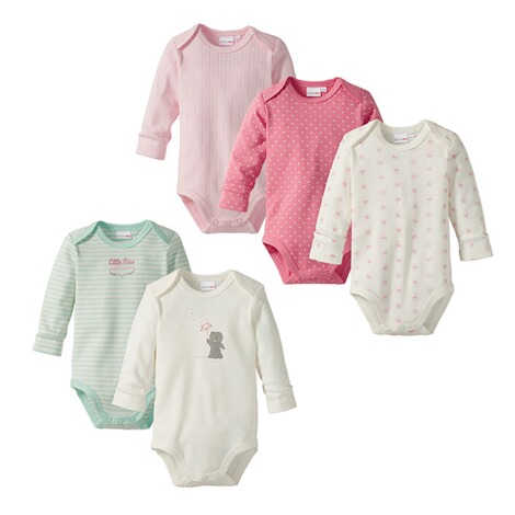 BorninoBASICS5er-Pack Bodys langarm 1