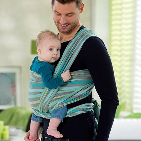 AMAZONASSILVER LINEBabytragetuch Carry Sling 510cm  pacific 4