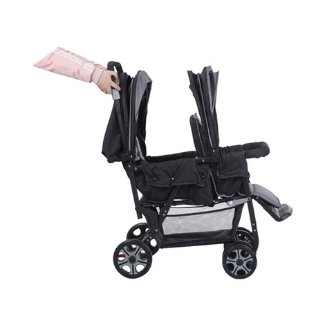 Safety 1stTeamy Geschwisterwagen  black chic 4