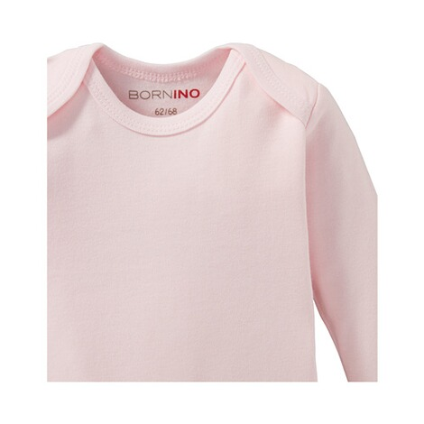 Bornino BASICS Body langarm  rosa 3