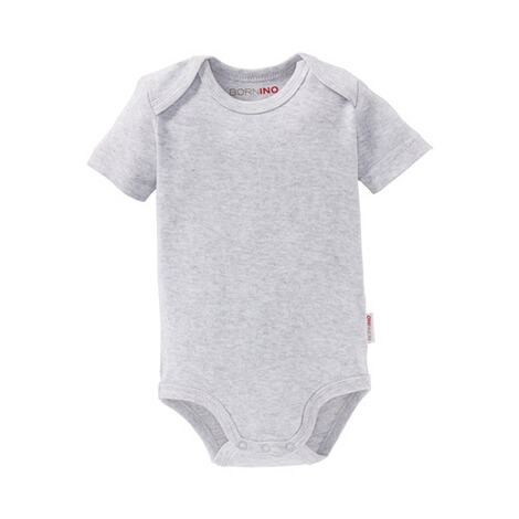 Bornino BASICS Body kurzarm  grau 1